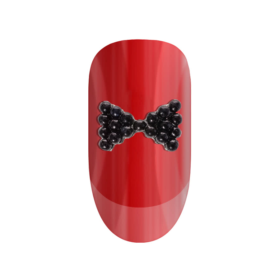 Blue Banana Nail Art 2PK (Black Bow)