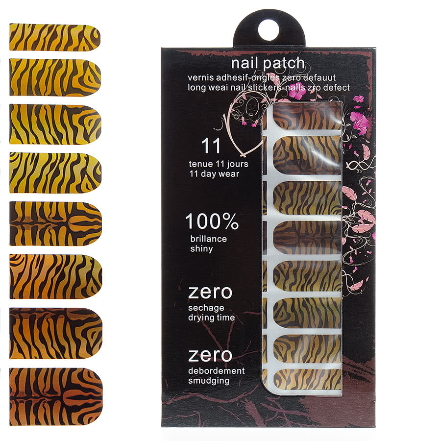 Blue Banana Nail Wrap (Tiger)