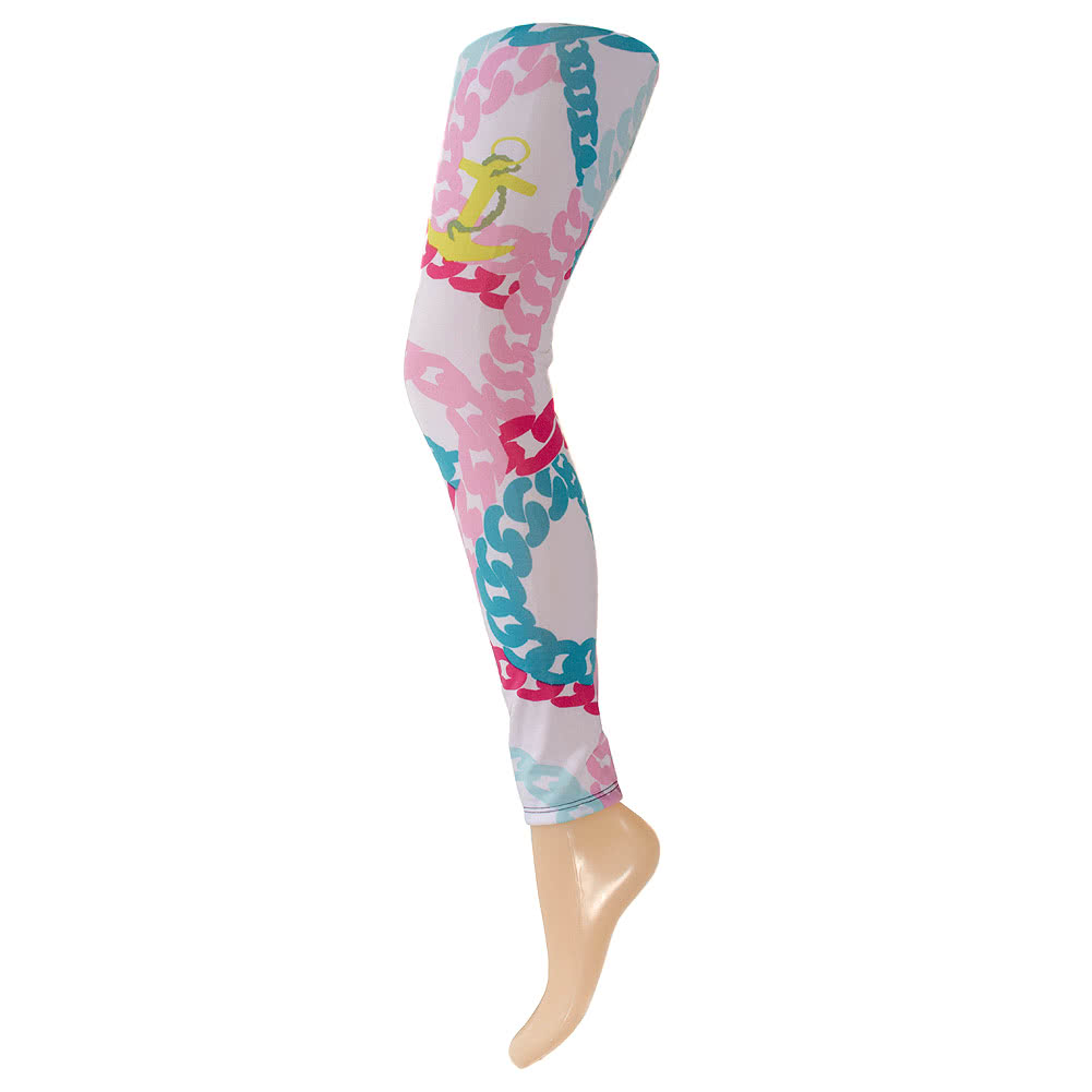 Blue Banana Colour Chains Leggings (Multi-Coloured)