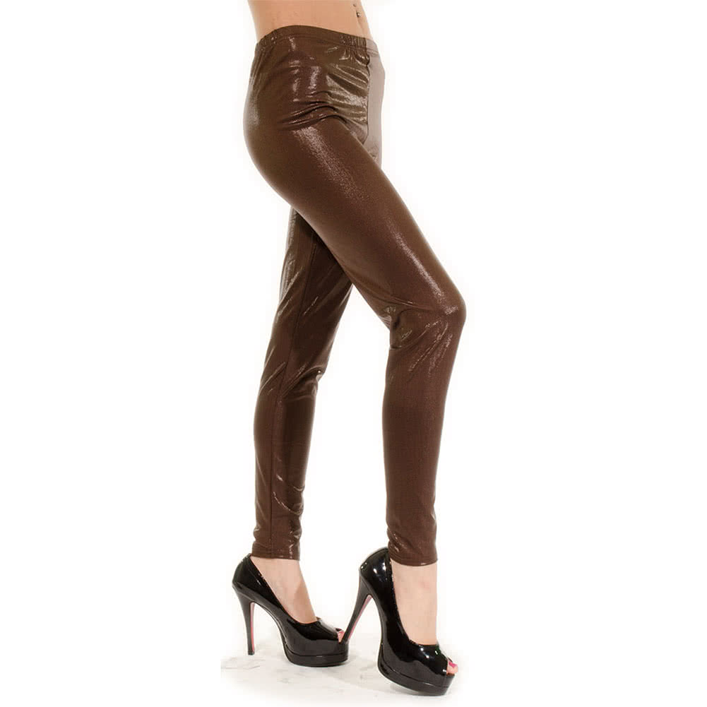 Blue Banana Gun Metal Leggings (Brown)