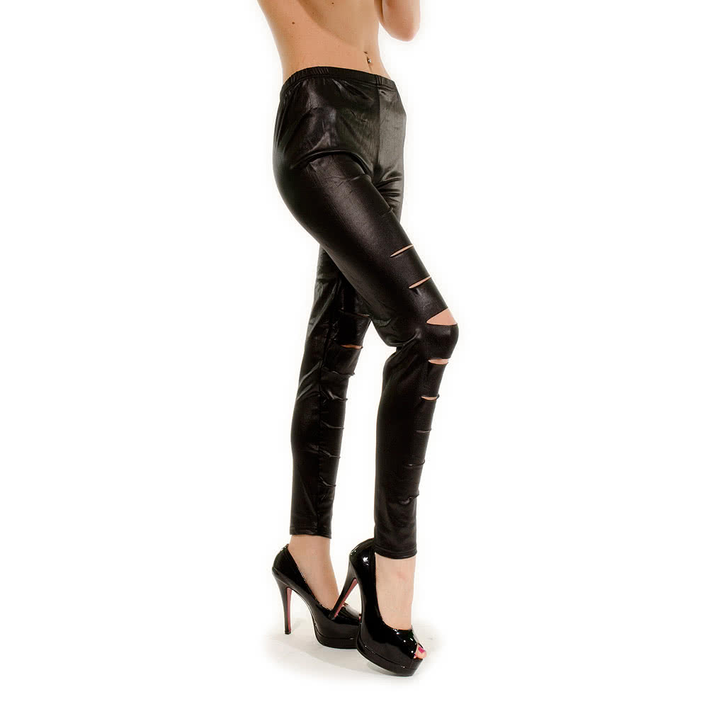 Blue Banana Cut Leggings (Black)