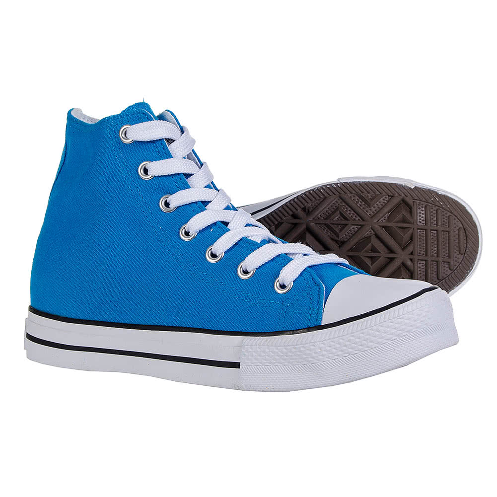 Bleeding Heart Canvas Hi Tops (Aqua Blue)