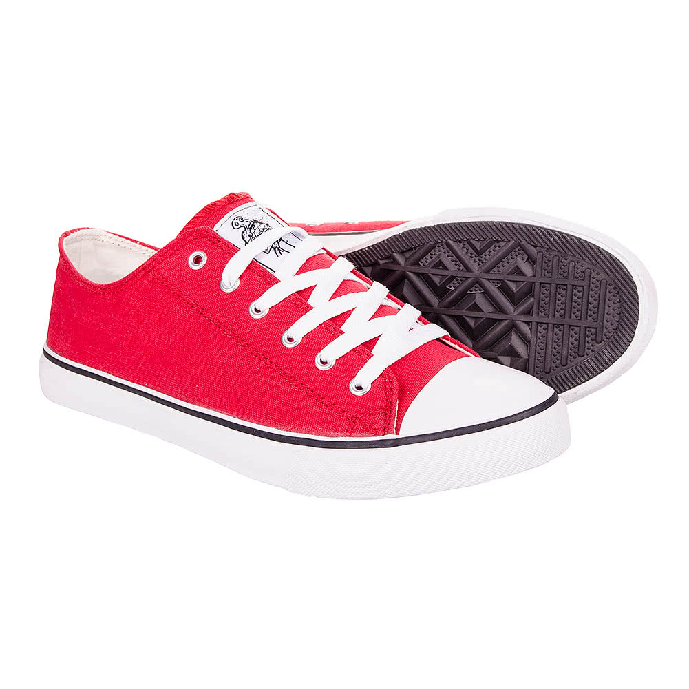 Bleeding Heart Canvas Trainers (Red)