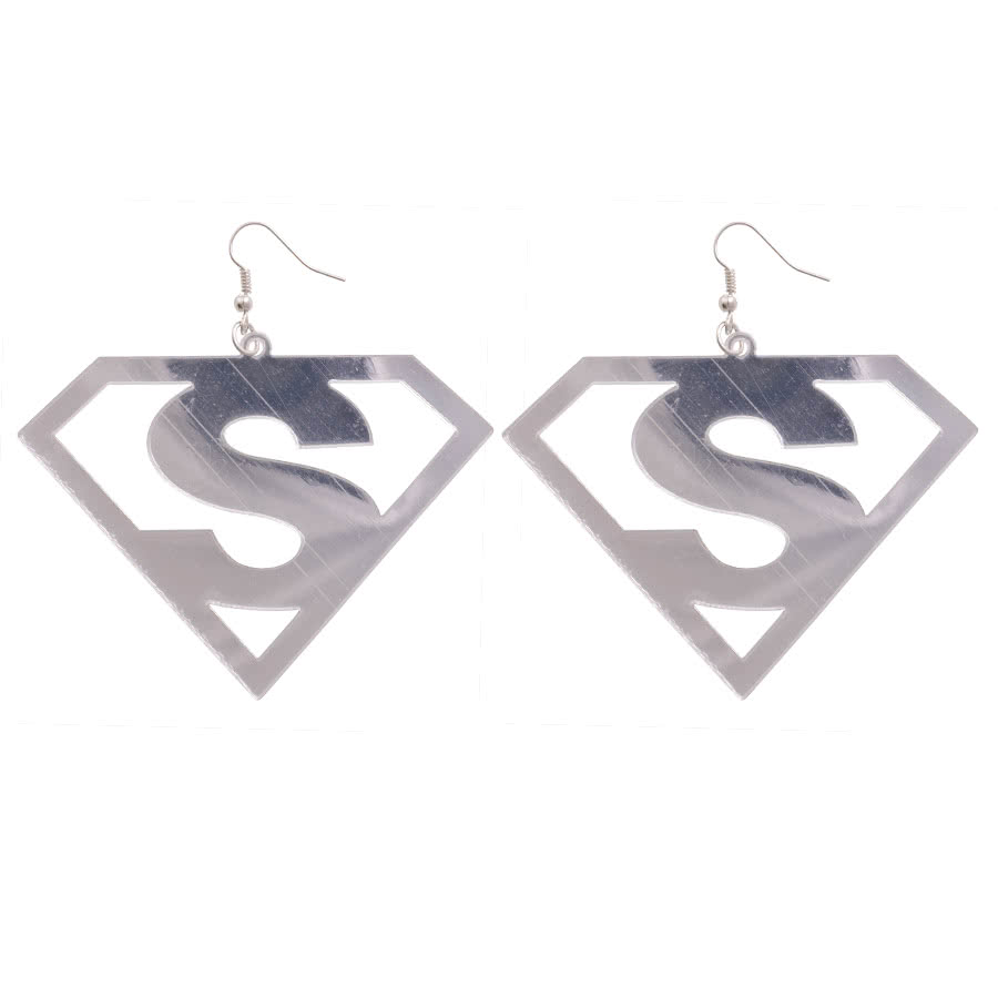 Blue Banana Cut Out S Earrings (Silver)