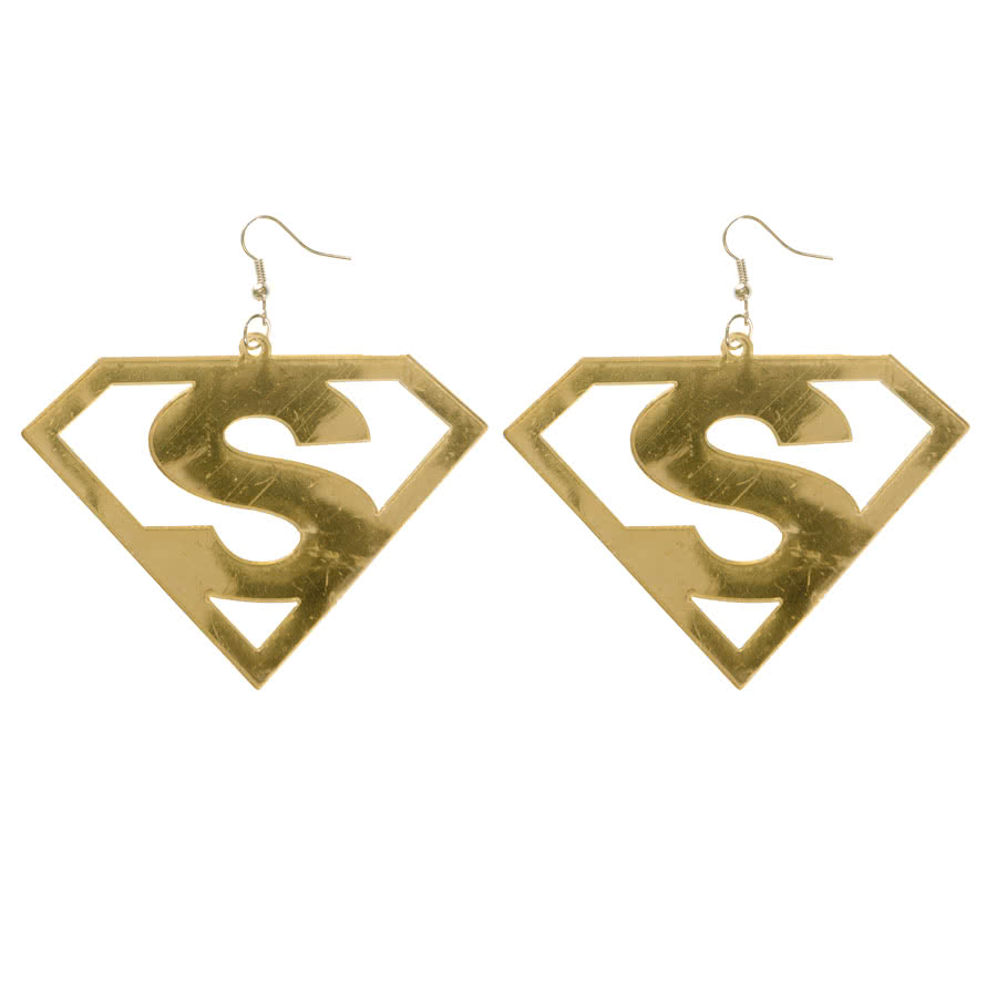 Blue Banana Cut Out S Earrings (Gold)