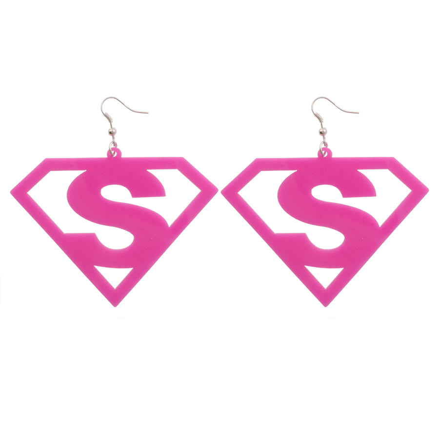 Blue Banana Cut Out S Earrings (Pink)