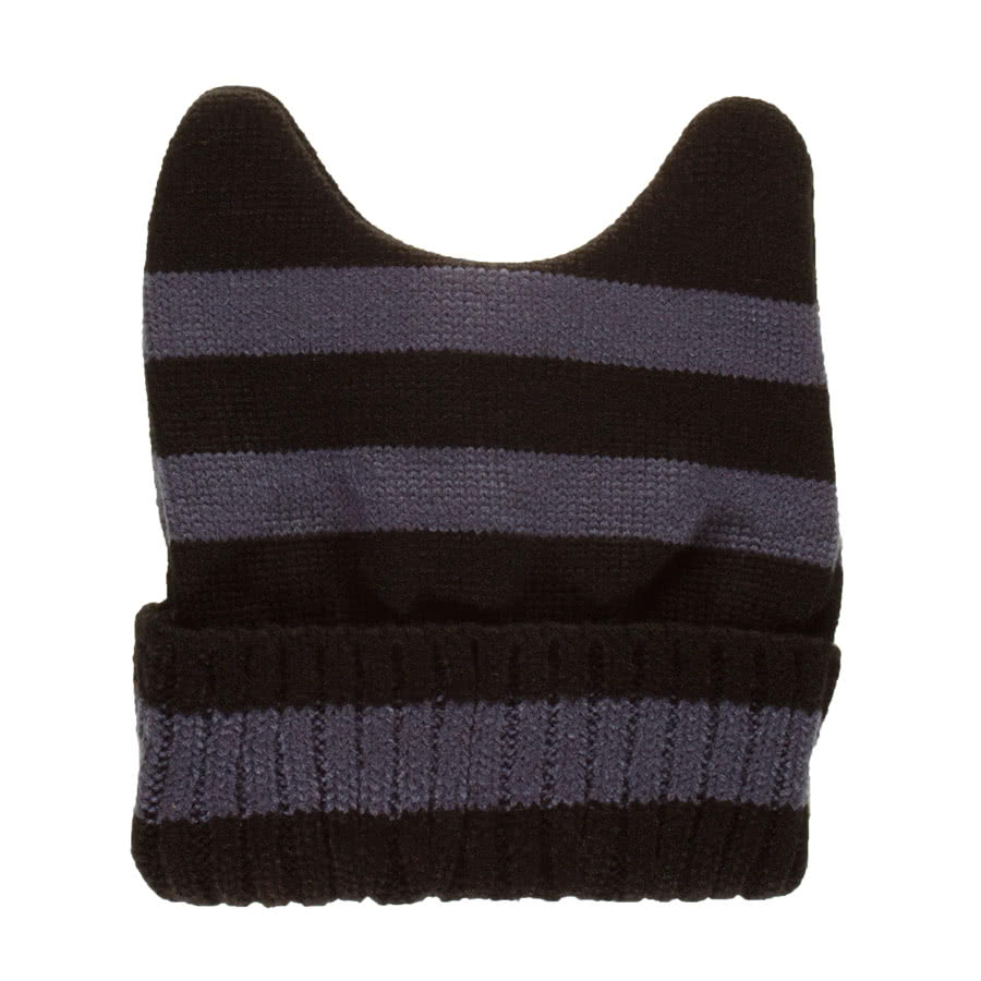 Blue Banana Stripe Beanie (Black/Grey)