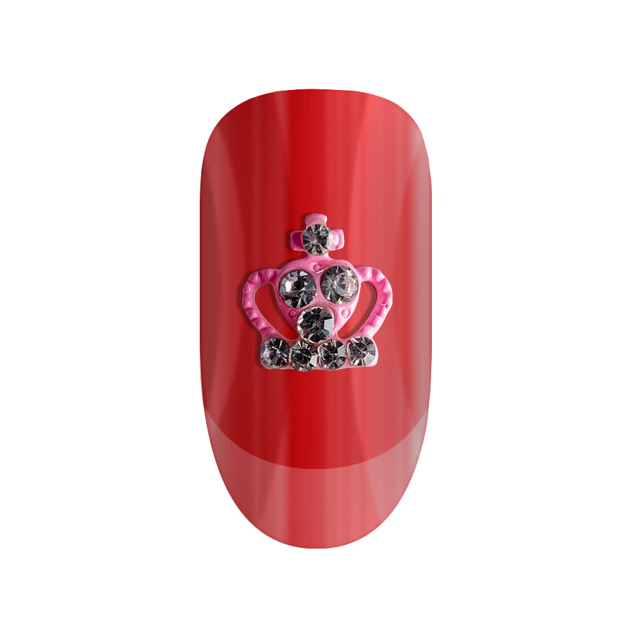 Blue Banana Pack of Two Pink Crown 3D Nail Art