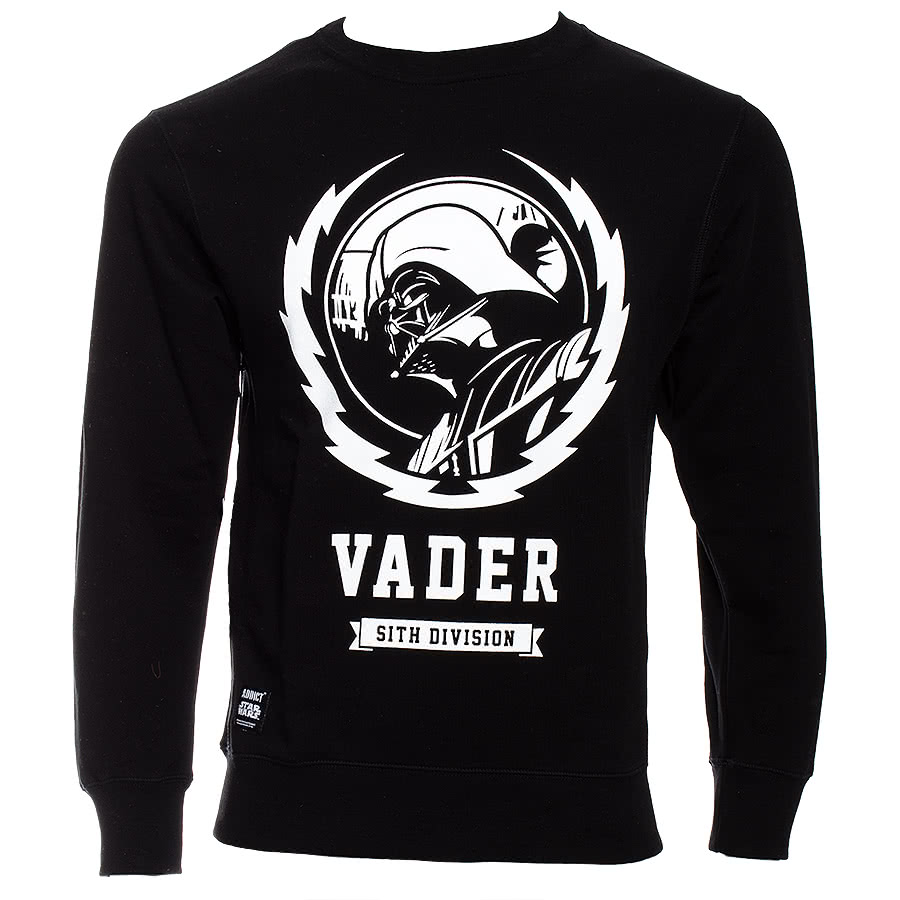 Star Wars Vader Lightning Crest Crew Sweater (Black)