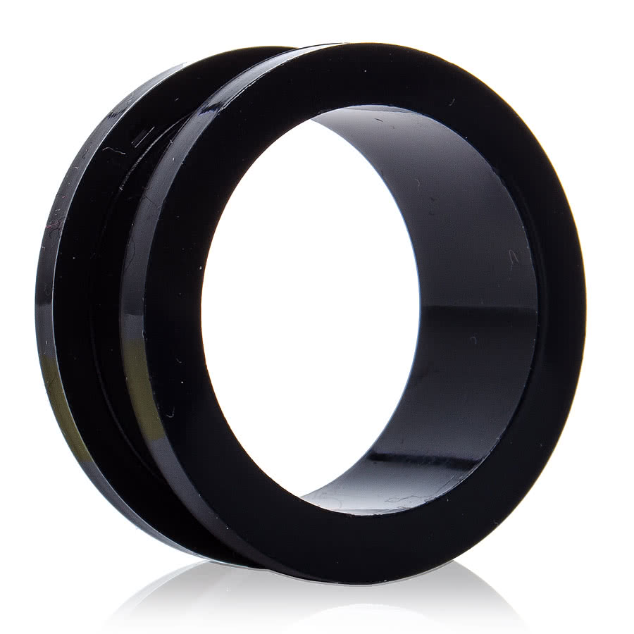 Blue Banana Acrylic Black Flesh Tunnel (12 - 24mm)
