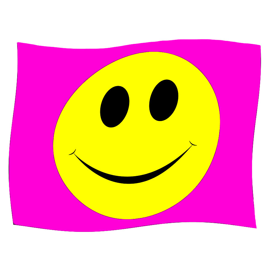 Blue Banana Smiley Flag (Pink)
