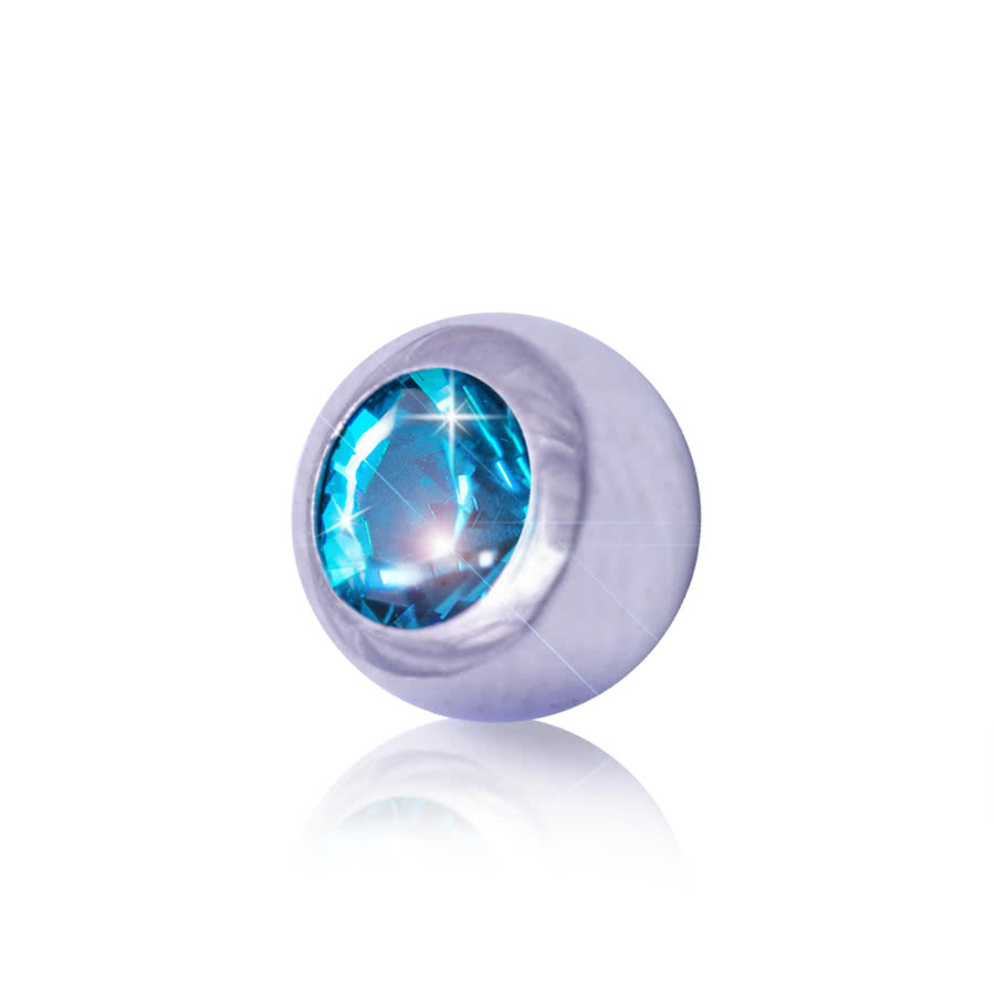 Blue Banana 3mm Steel Jewelled Ball (Zircon)