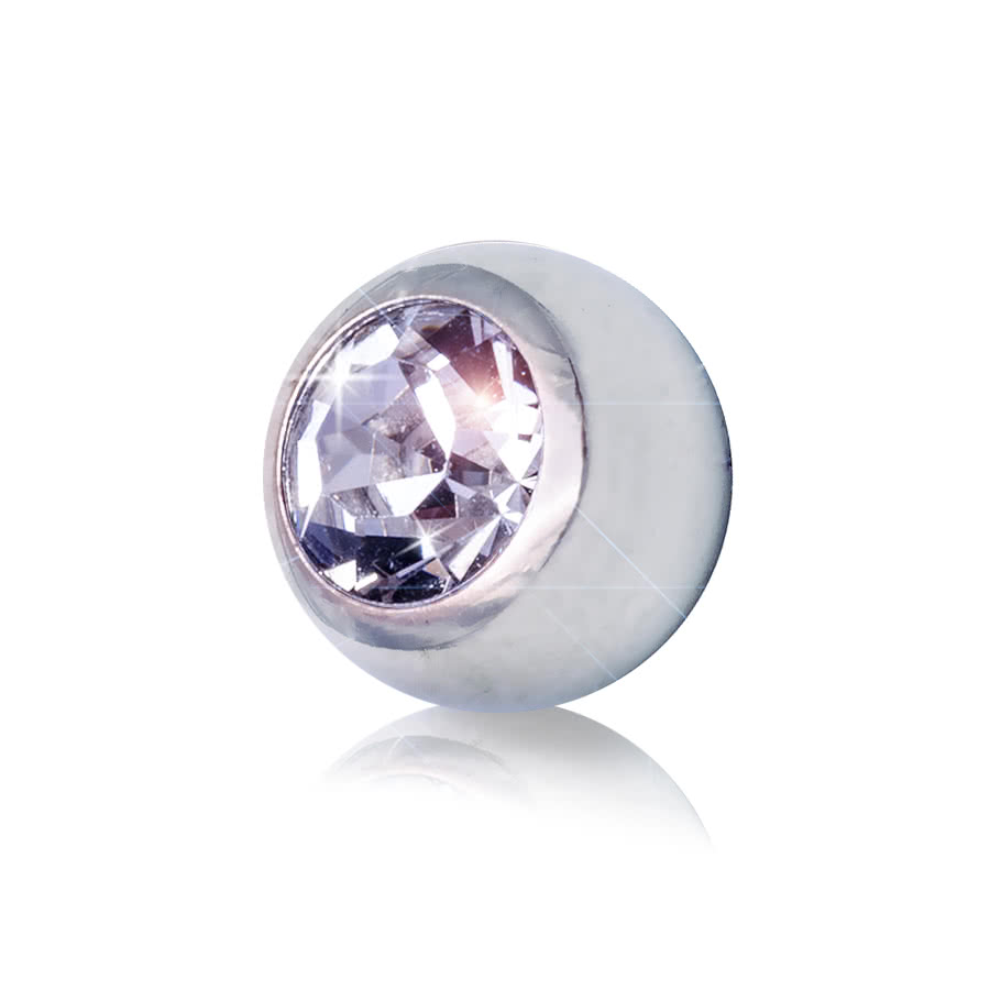 Blue Banana 5mm Steel Jewelled Ball (Crystal)