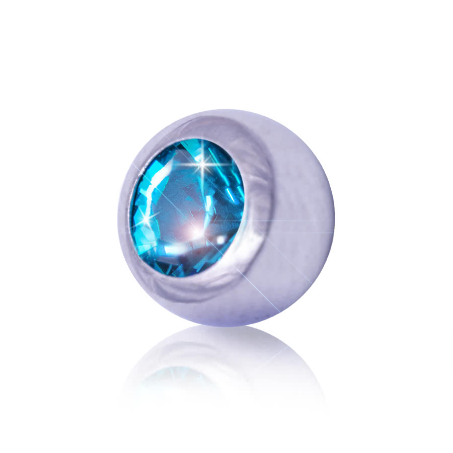 Blue Banana 5mm Steel Jewelled Ball (Zircon)