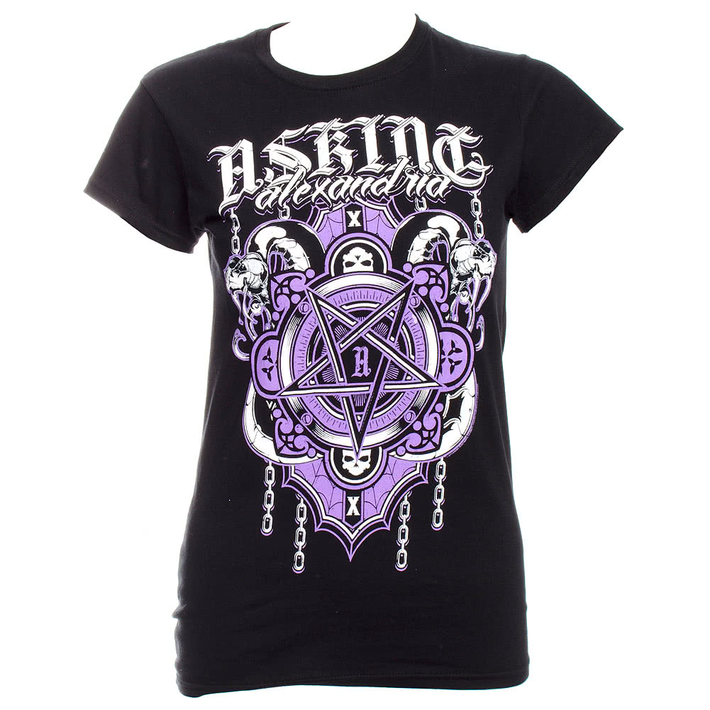 Asking Alexandria Demonic Skinny Fit T Shirt (Black)