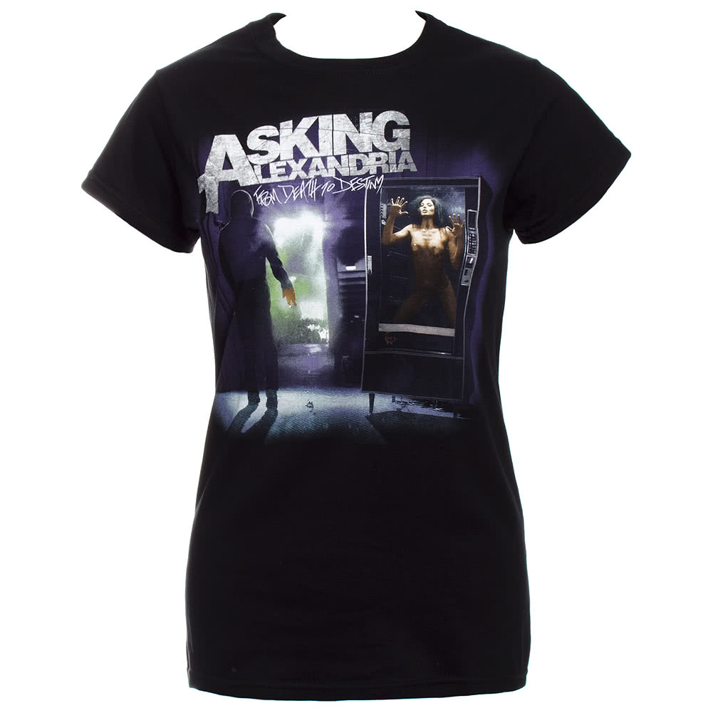 Asking Alexandria From Death To Destiny Skinny Fit T Shirt (Black)