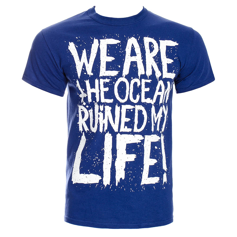 We Are The Ocean Ruined T Shirt (Blue)