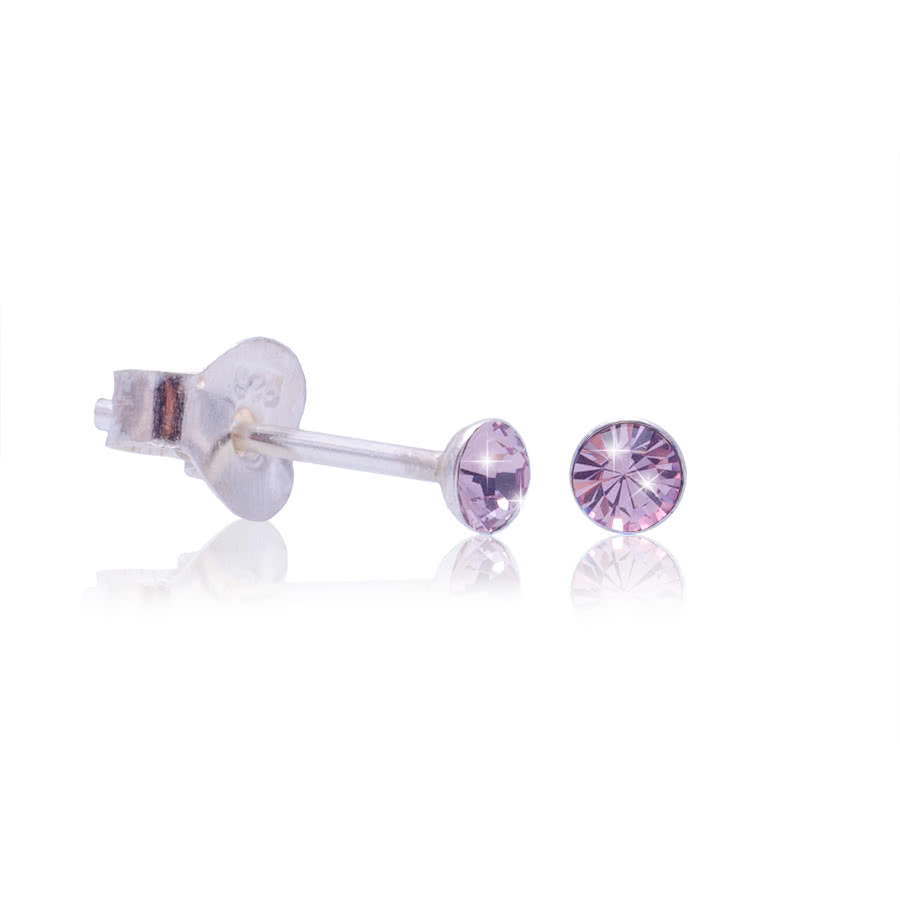 Blue Banana Swarovski Elements October Birthstone Silver Earrings Rose (Pink)