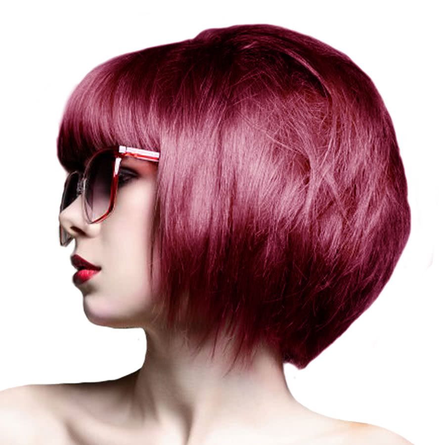 Crazy Color Semi-Permanent Hair Dye 100ml (Cyclamen Red)