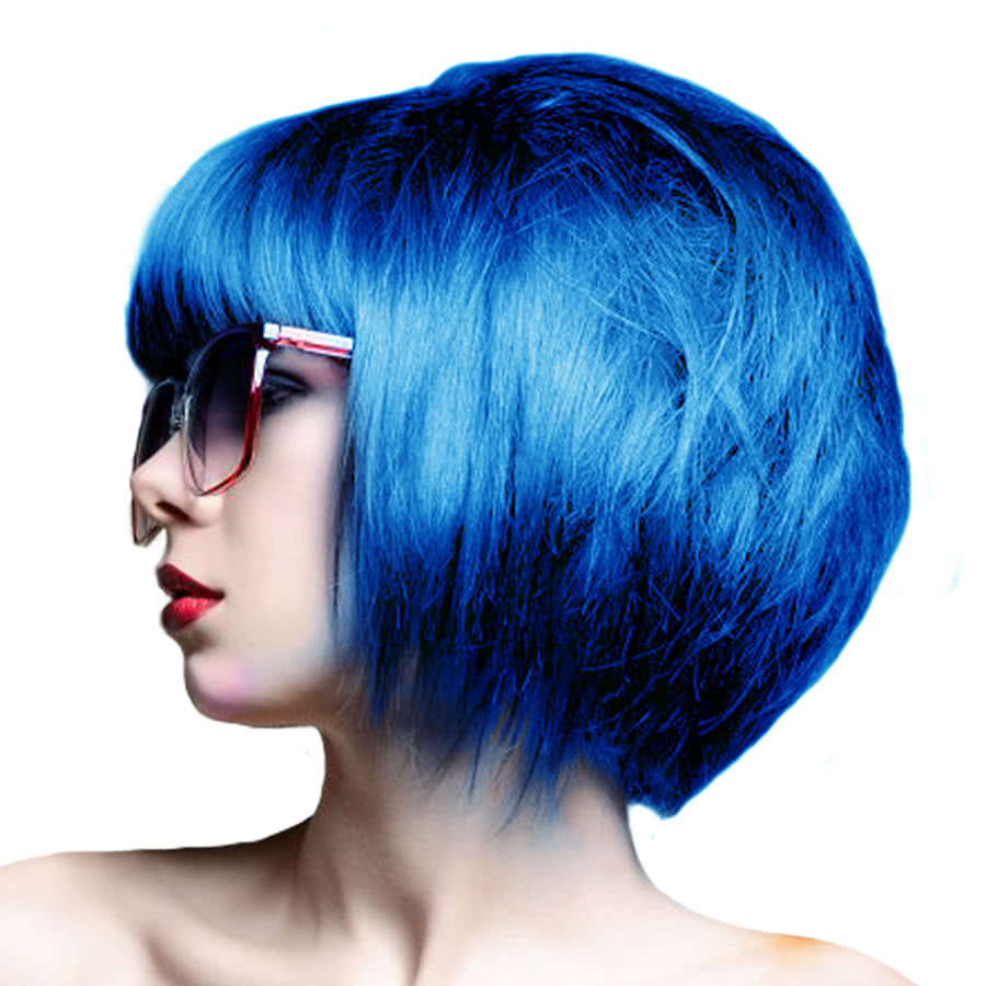 Crazy Color Semi-Permanent Hair Dye 100ml (Capri Blue)