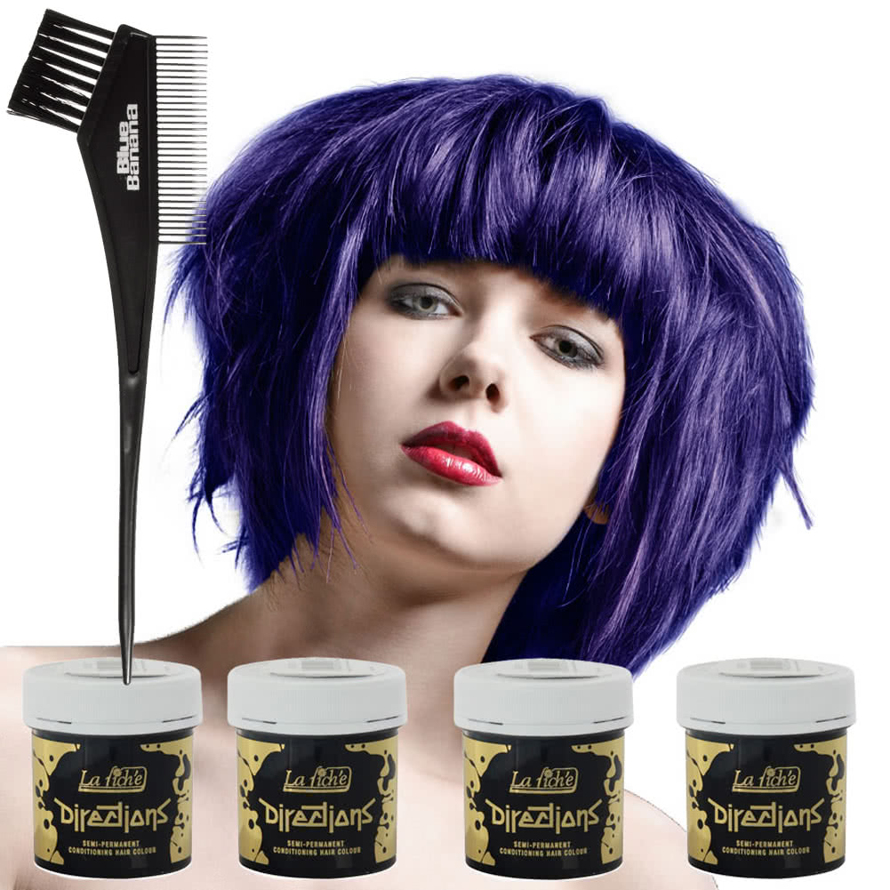 La Riche Directions Hair Dye 4 Pack (Midnight Blue)