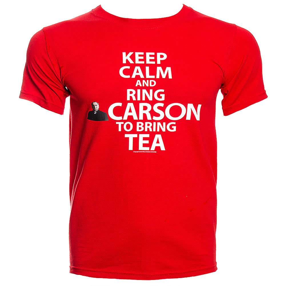 Downton Abbey Keep Calm Carson T Shirt (Red)