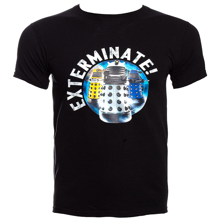 Doctor Who Exterminate T Shirt (Black)