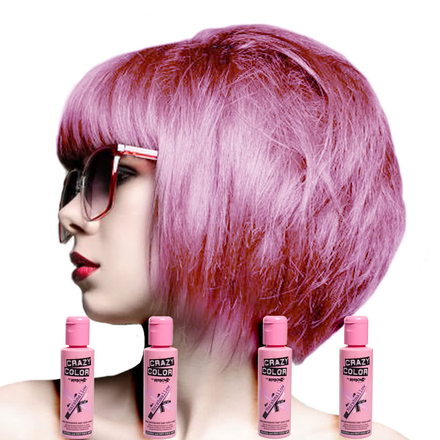 Crazy Color Semi-Permanent Hair Dye 4 Pack (Marshmallow)