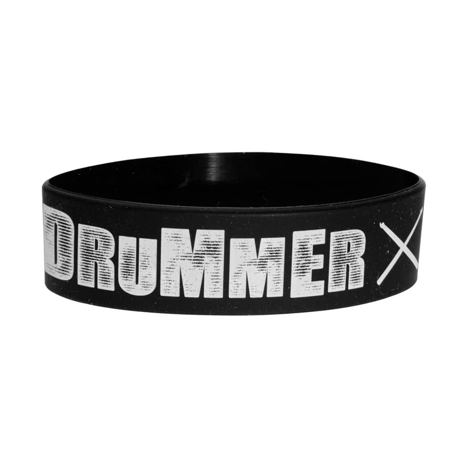 Blue Banana Drummer Wristband (Black/White)