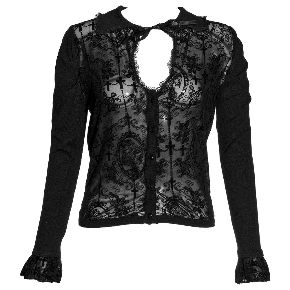 Banned Steampunk Cross Cardigan (Black)