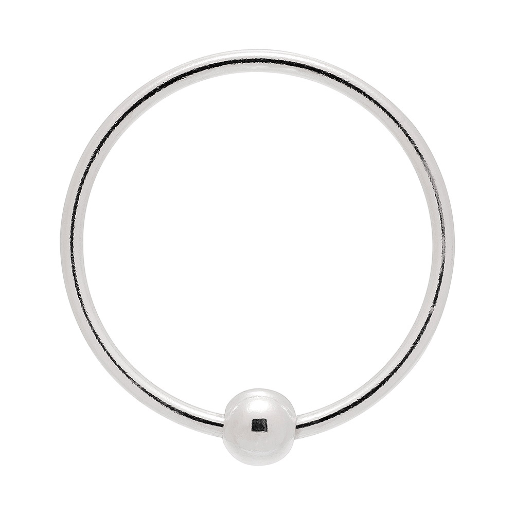 Blue Banana BCR Style 1.0 x 10mm Nose Ring (Silver)