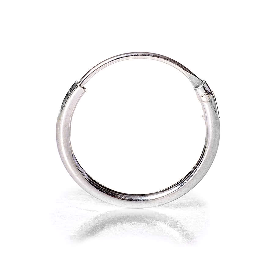 Blue Banana Nose Ring Clip 1.2 x 10mm (Silver)