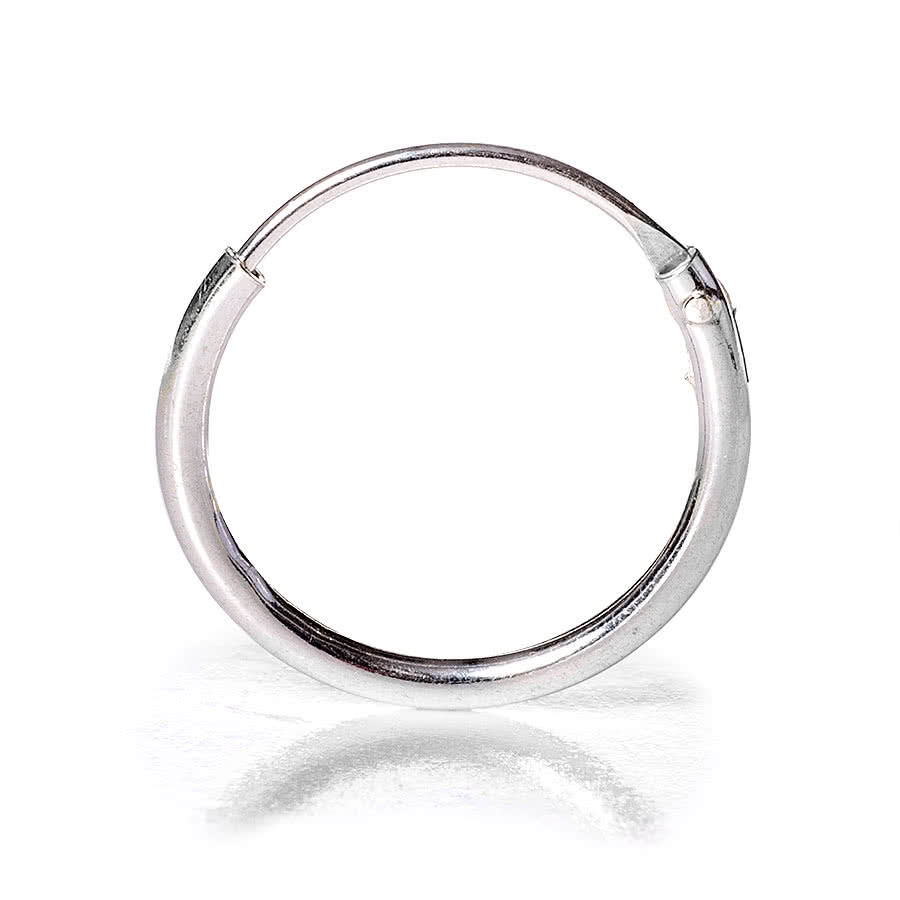 Blue Banana Nose Ring Clip 1.2 x 12mm (Silver)