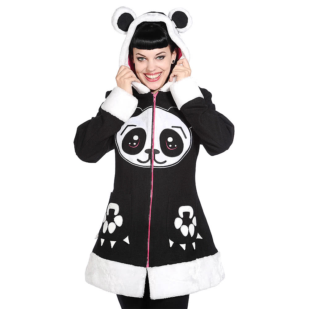 Banned Panda Coat (Black)