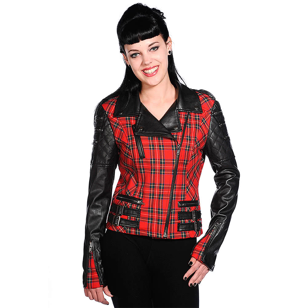 Banned Red Tartan Jacket (Black)