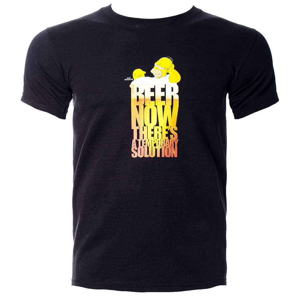 The Simpsons Beer T Shirt (Black)