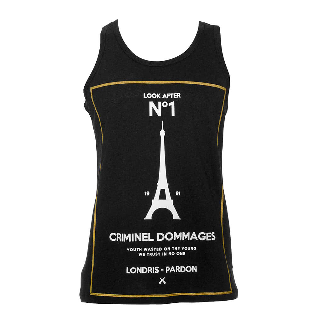 Criminal Damage No1 Vest Top (Black)