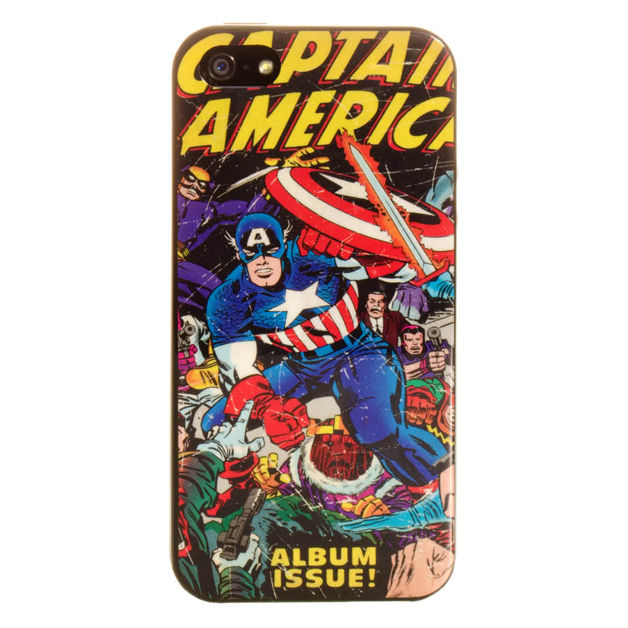 Marvel Comics iPhone 5 Captain America Phone Case (Multi-Coloured)