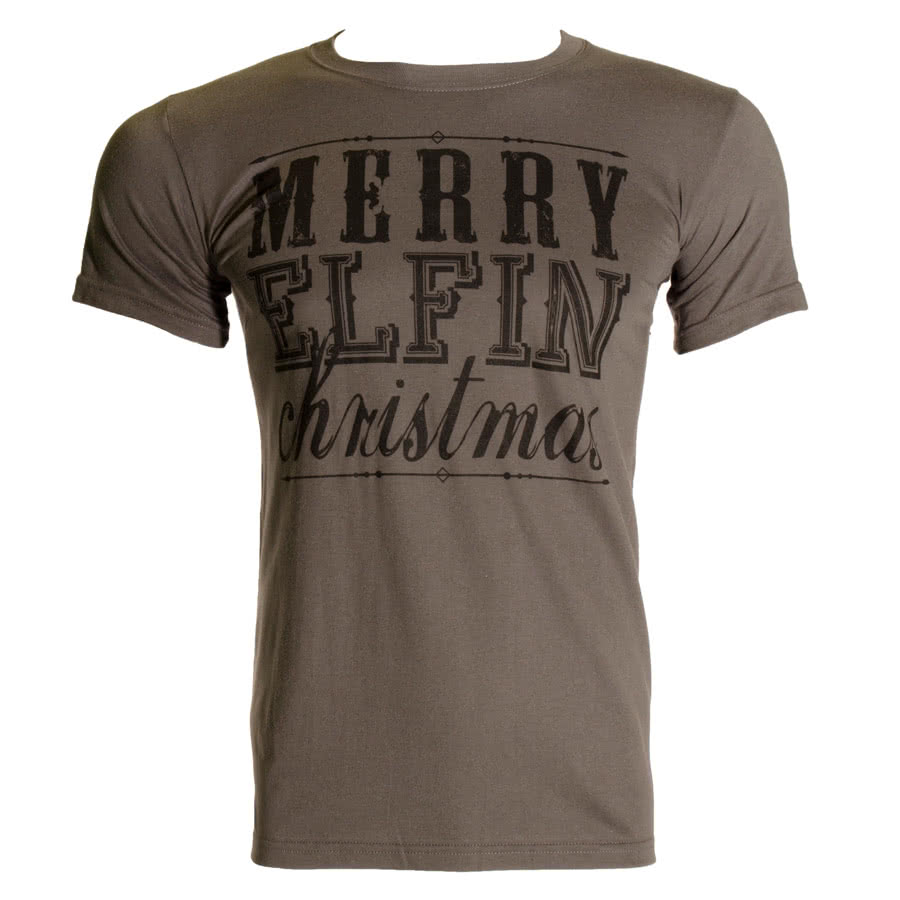 Blue Banana Merry Elfin Christmas T Shirt (Grey)