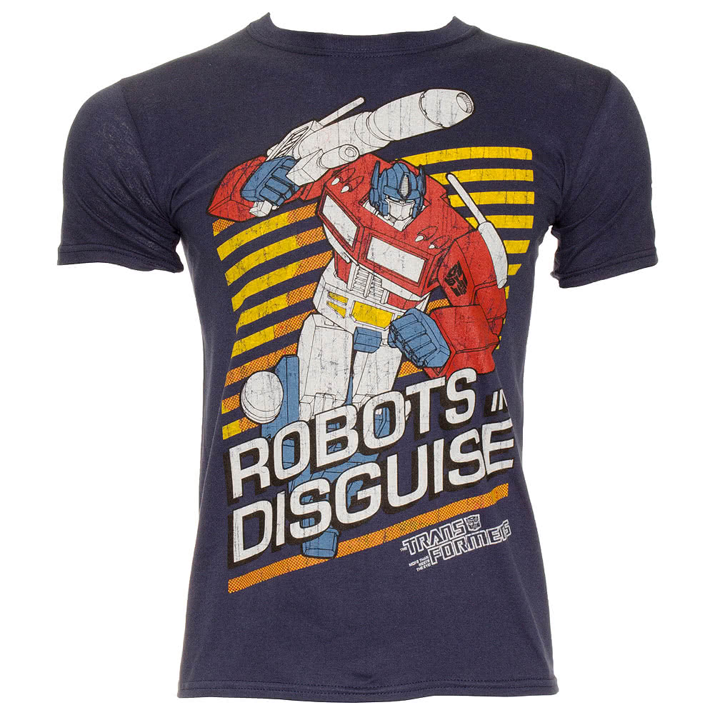 Transformers Robots In Disguise T Shirt (Navy)