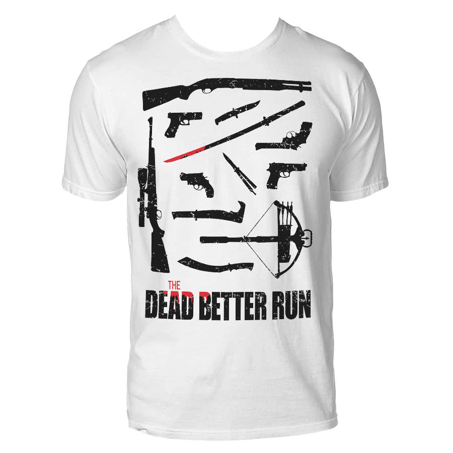 Blue Banana Dead Better Run T Shirt (White)