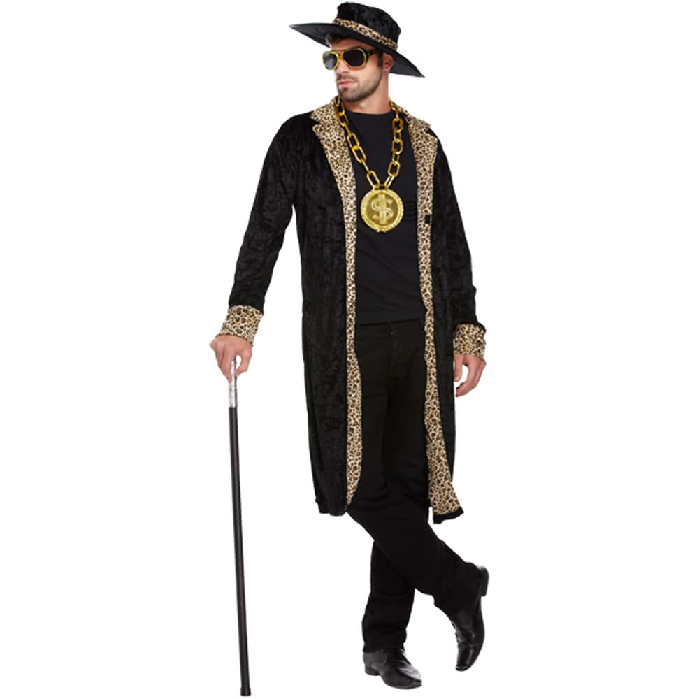 Pimp Fancy Dress Costume (Black)