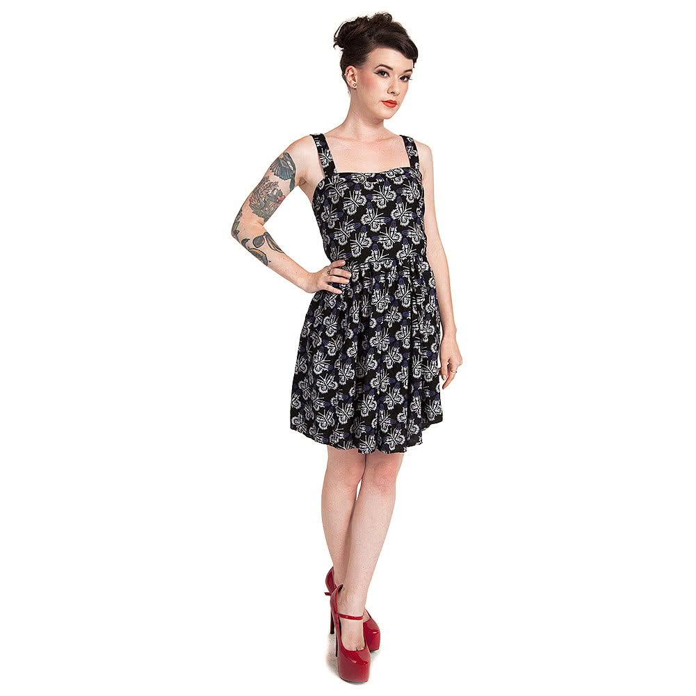 Cold Heart Boney Butterfly Vintage Dress (Black/Purple)