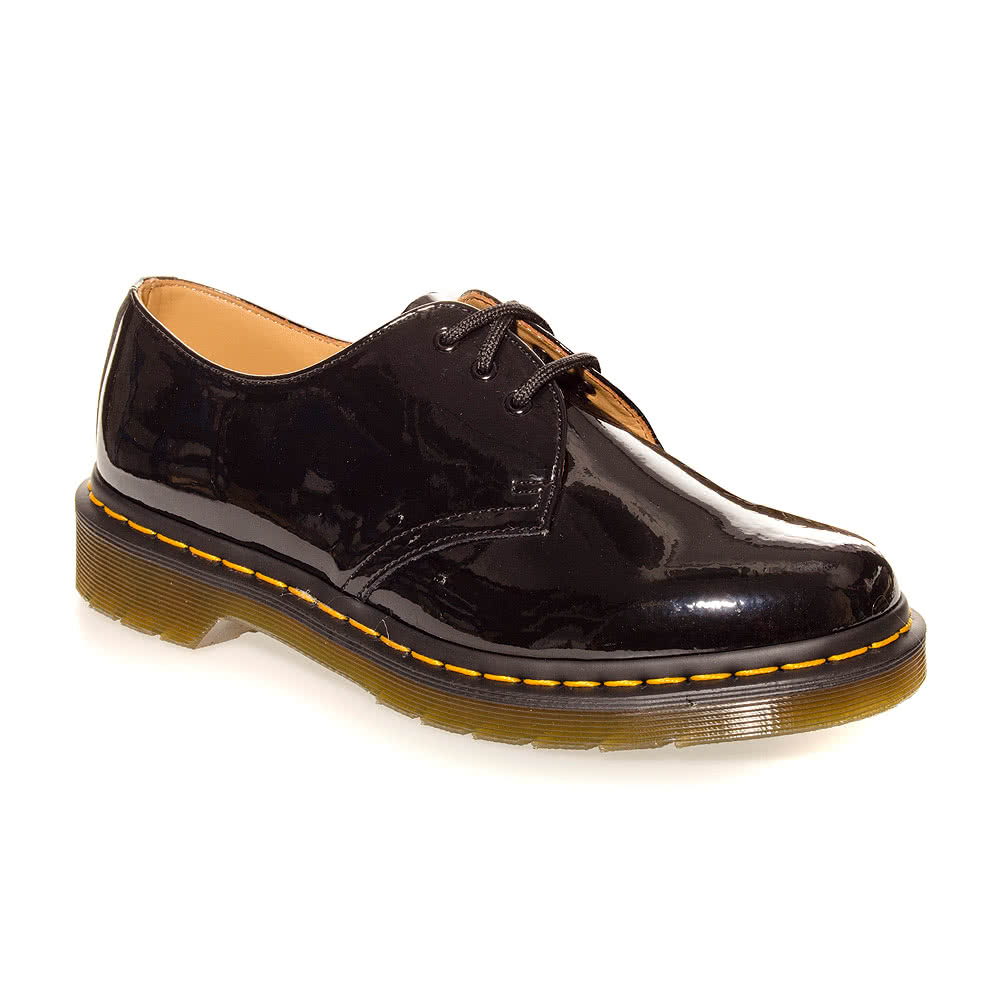 Dr Martens 1461 Shoes (Patent Black)