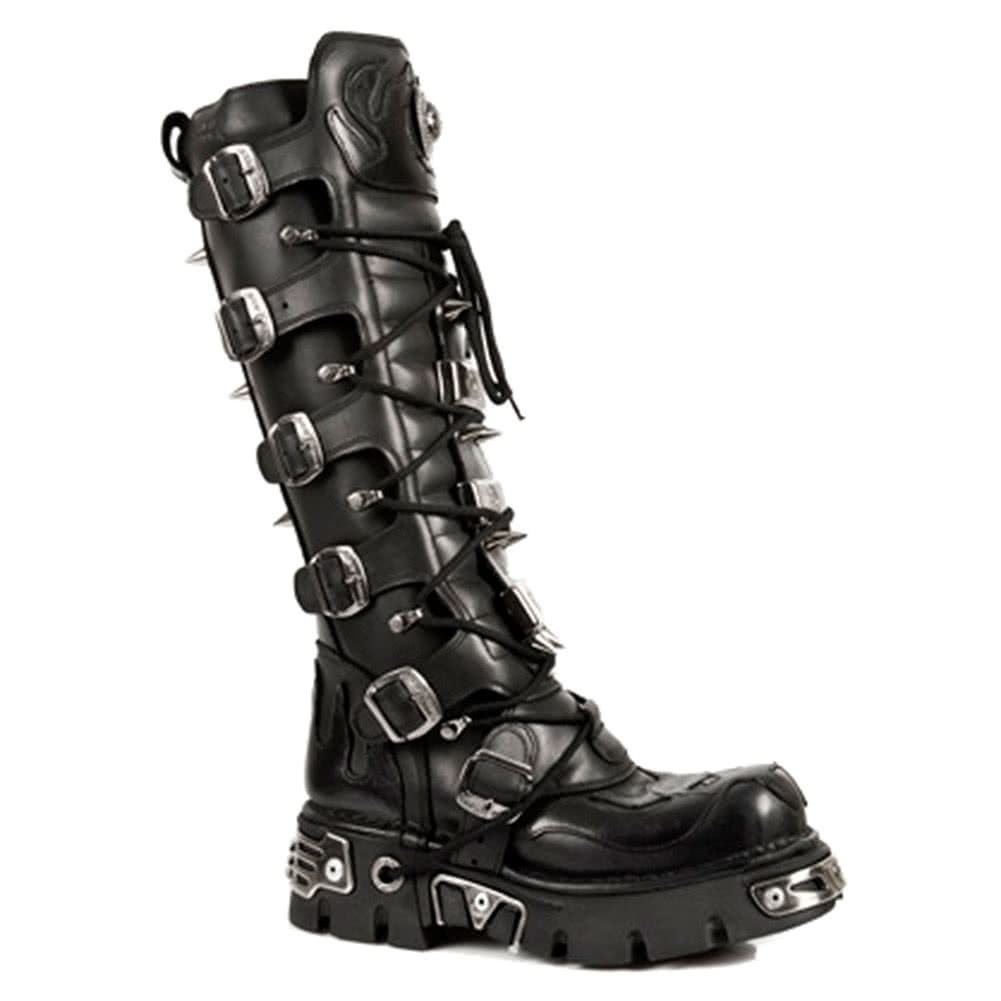 New Rock Boots Knee High Style M161-S1 (Black)