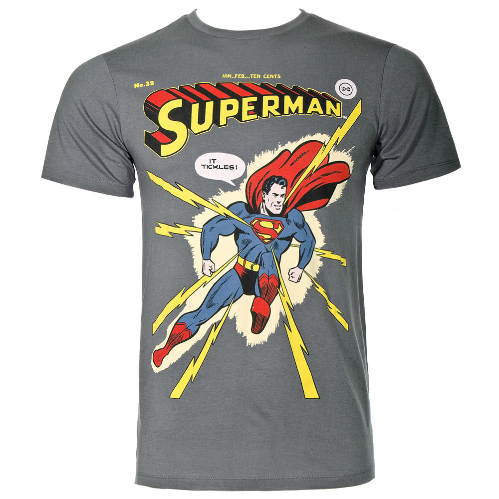 DC Comics Superman Old Eclair T Shirt (Grey)