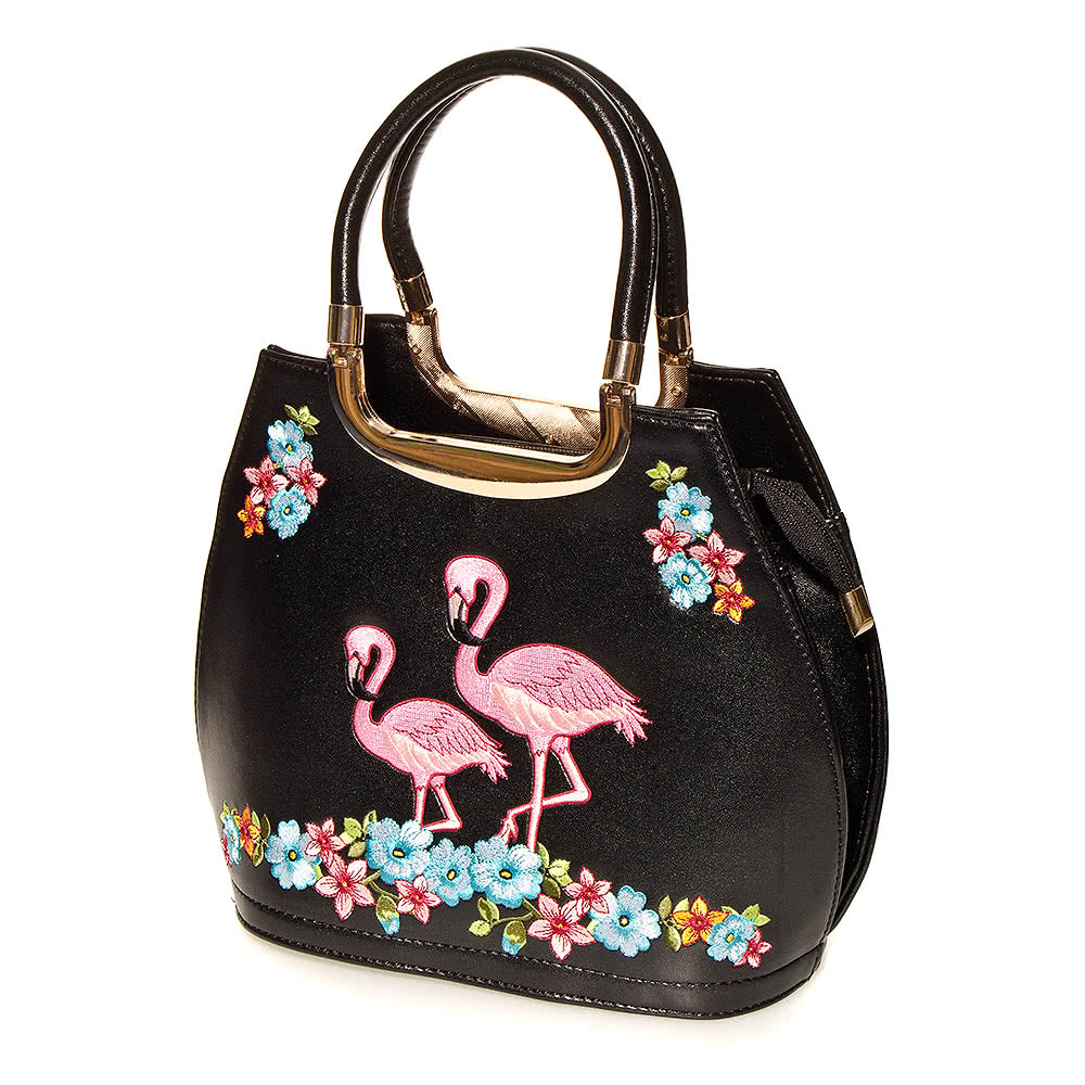 Banned Flamingos Bag (Black)