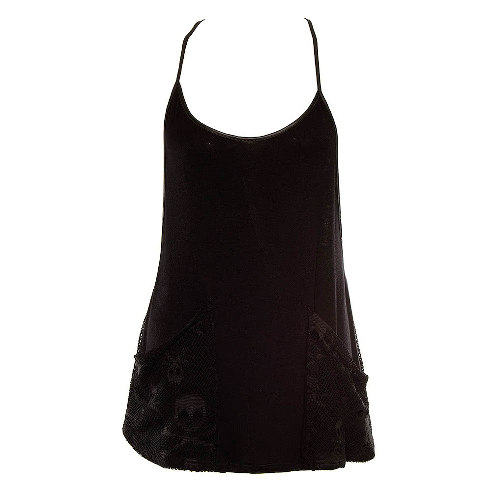 Jawbreaker Burnout Vest Top (Black)