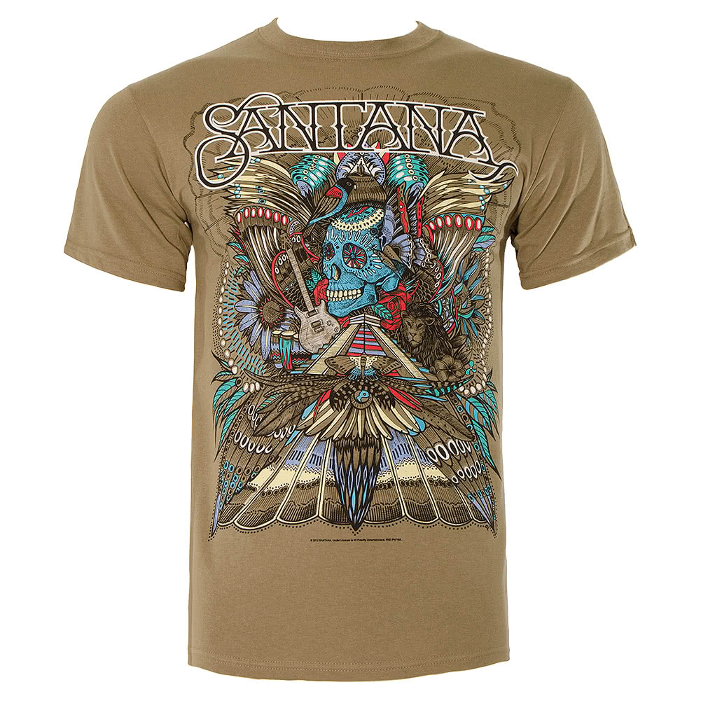 Santana Folk Art T Shirt (Khaki)