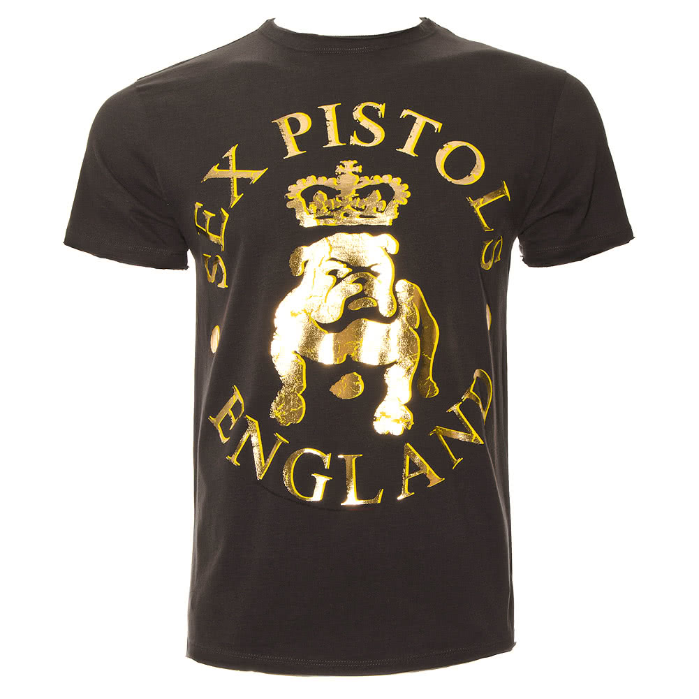 Amplified The Sex Pistols Bulldog T Shirt (Charcoal)